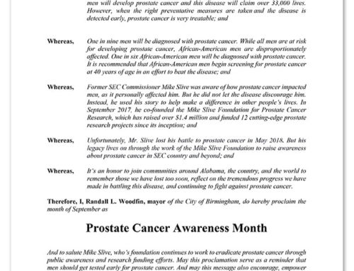 City of Birmingham Prostate Cancer Proclamation
